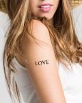 Tatouage temporaire message love