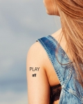 Tatouage temporaire message play off