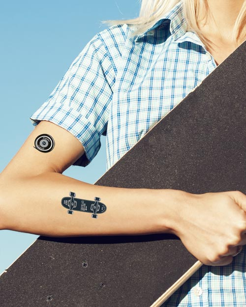 Tatouage temporaire Tutti tattoo skateboard