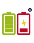 Tatouage temporaire batterie verte et rouge