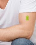 Tatouage temporaire Batterie verte