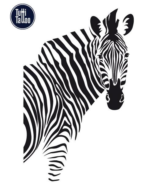 Tatouage temporaire zebre; Tatouage temporaire zébre