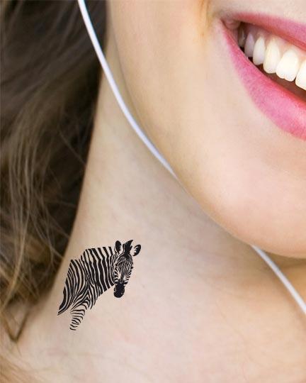 Tatouage temporaire zebre